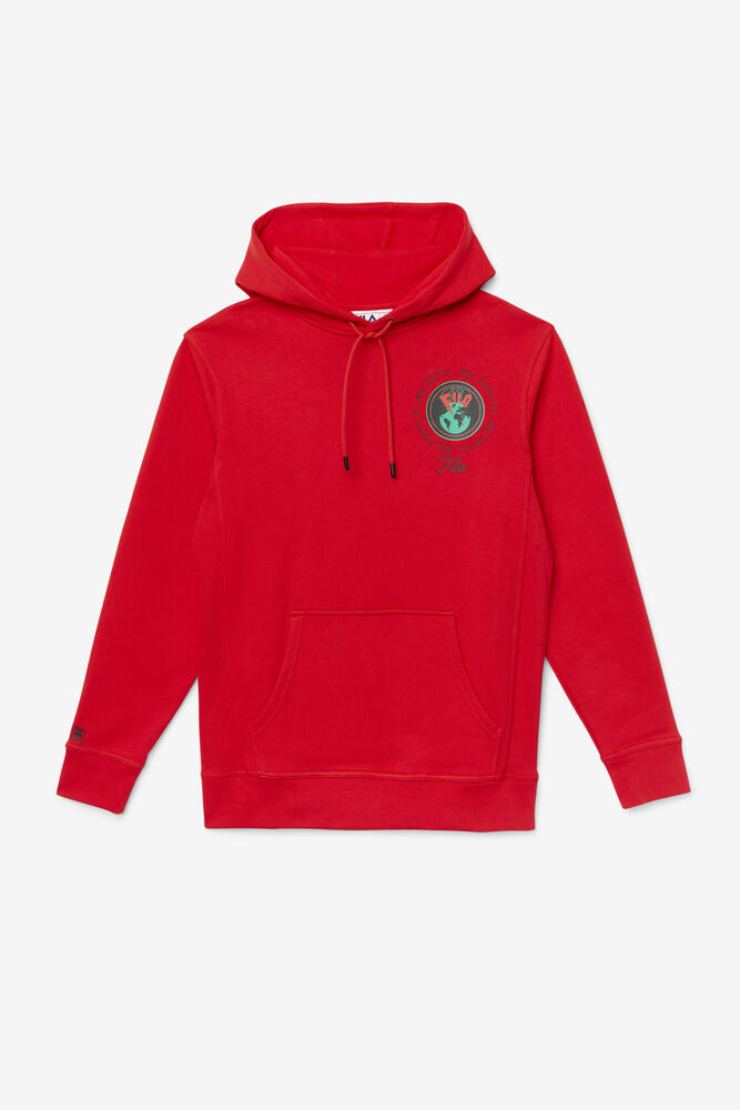 HUNT HOODIE/CHINESE RED/Large