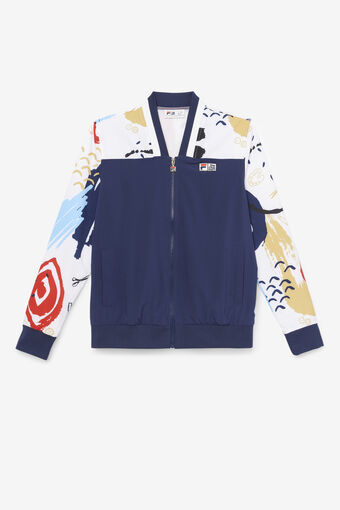 THE MUSEUM  PRINTED JACKET/PEAC/WHT/CRED/Large