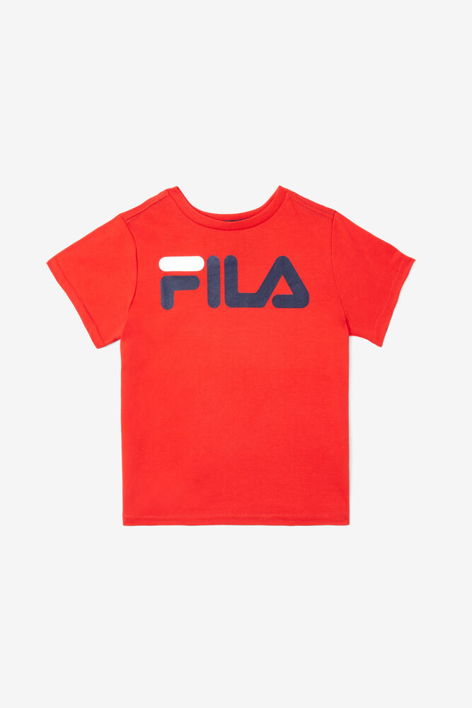 HERITAGE CLASSIC LOGO TEE/RED/5T