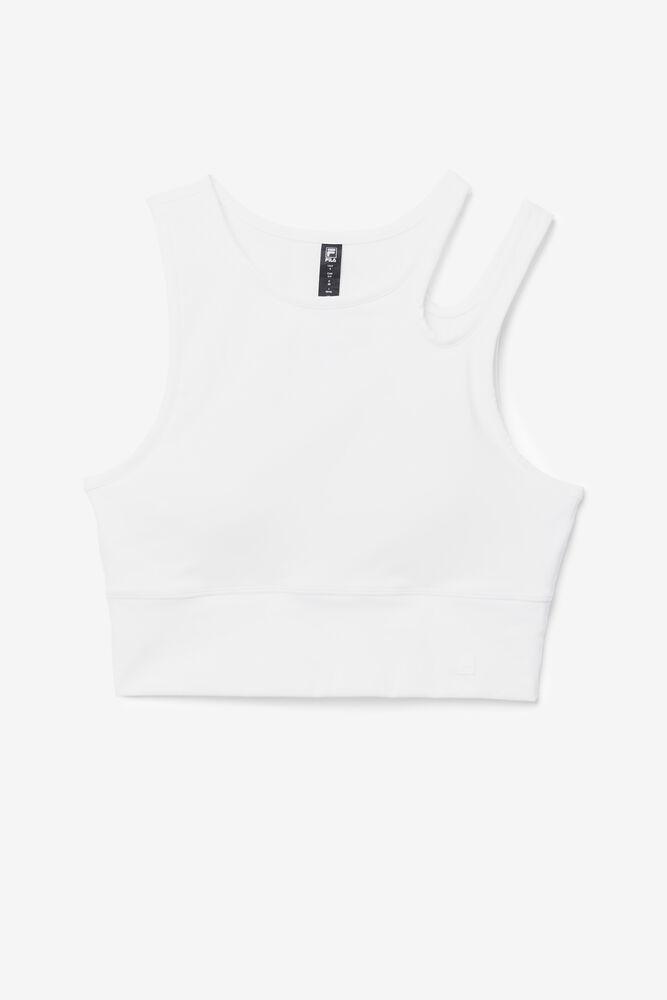 UPLIFT SLICE CROP BRA TOP/WHITE/Large