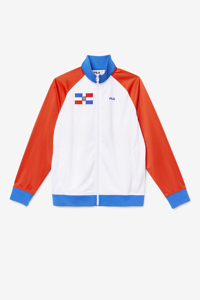 DOMINICAN REPUBLIC TRACK JACKET/FRED/WHT/PBLU/Large