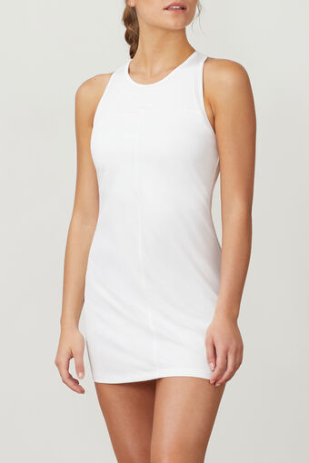 WHITE LINE CALL DRESS