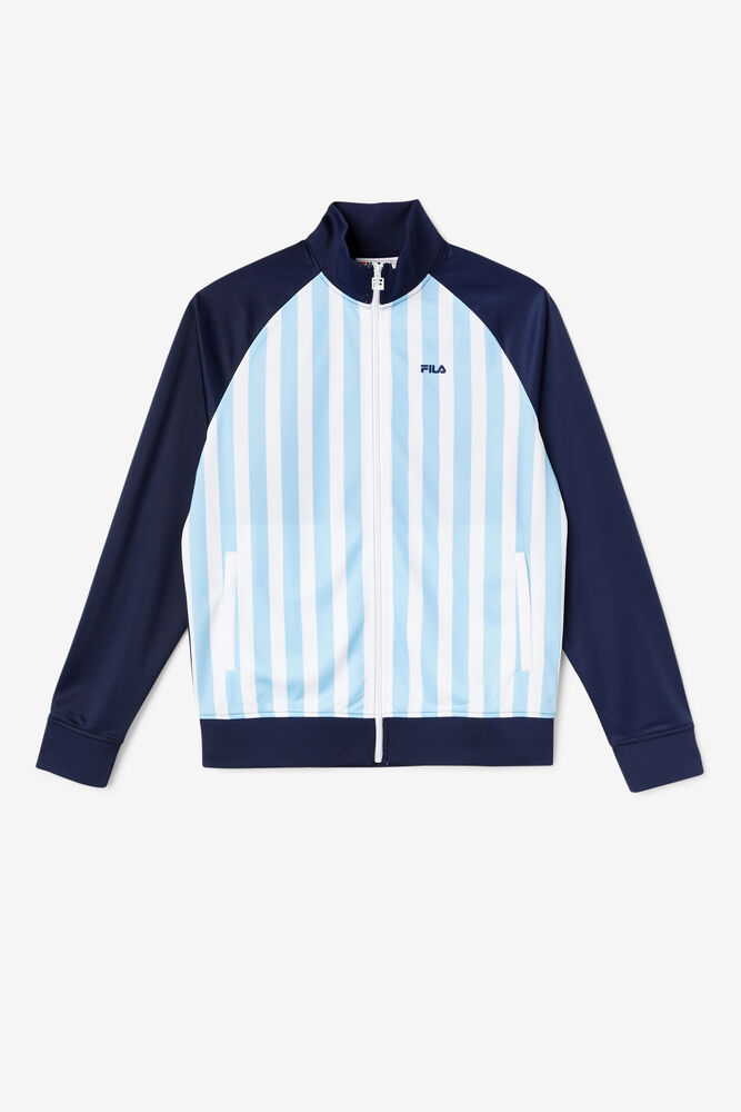 ARGENTINA TRACK JACKET/FNVY/WHT/BSEA/Triple Extra Large