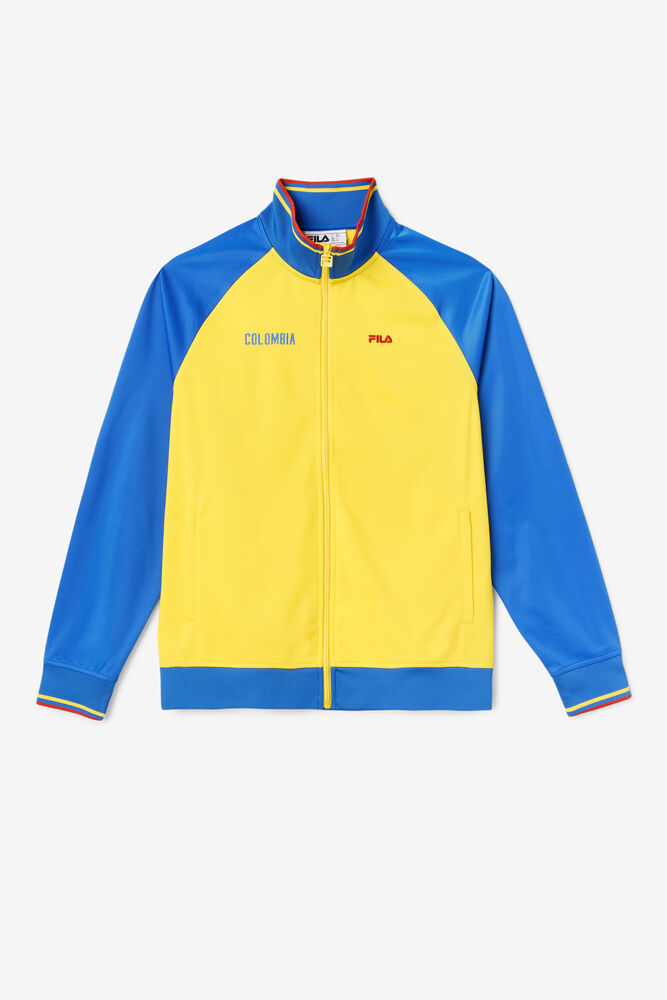 COLOMBIA TRACK JACKET/VYLO/LBLU/FRED/Extra large