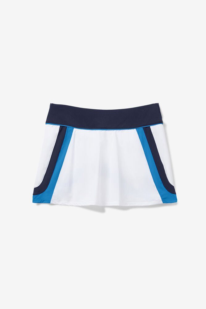 110 YEAR A-LINE SKORT/WHT/NAVY/MARN/Large