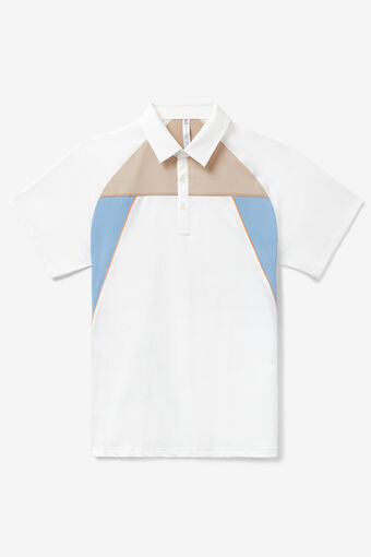 SHORT SLEEVE POLO/WHT/STCCO/PRNT/Large