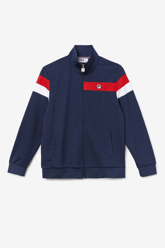 MALCOLM TRACK JACKET/PEAC/CRED/WHT/Large