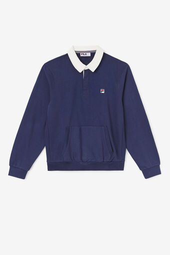 EDISON RUGBY SWEATER/PEAC/WWHT/Large