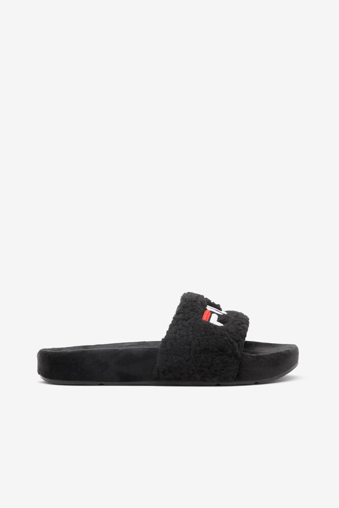 Fuzzy Slide/BLK/FRED/WHT/Six and a half