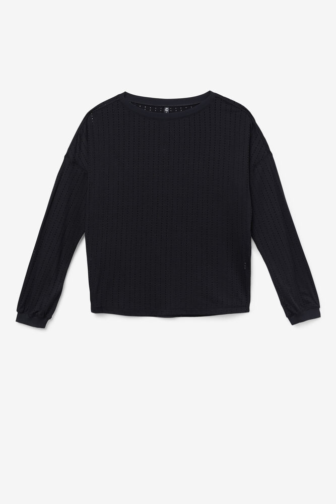 FI-LUX LONG SLEEVE TOP/BLACK/Extra Small
