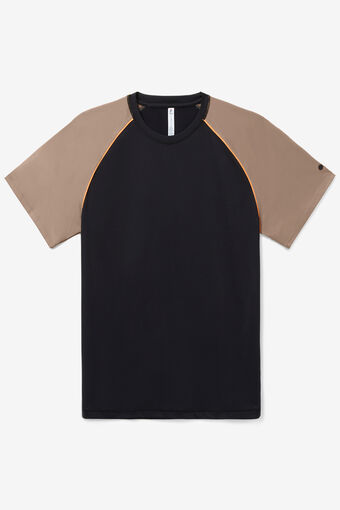 SHORT SLEEVE CREW/BLK/STCCO/MORG/Large