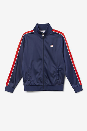 WICKS TRACK JACKET/FNVY/FRED/WHT/Large