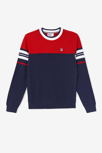 EVERLY KNITTED CREW/PEAC/CRED/WHT/Large